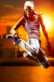 Tänzer der jungen Frau lizenzfreies stockbild