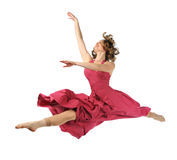 Tänzer, der Sprung durchführt Lizenzfreies Stockbild