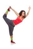 Tänzer, der wie eine Ballerina aufwirft Stockfotos