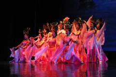 Tänzer der Xian-Tanz-Truppe Lizenzfreie Stockbilder
