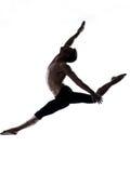 Tänzer des modernen Balletts des Mannes, der gymnastischen Seiltänzer tanzt stockfoto