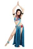 Tänzer in einem Türkiskleid Lizenzfreie Stockbilder