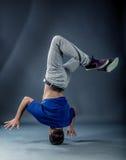 Tänzer - Headspin lizenzfreie stockfotos