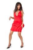 Tänzer im Rot lizenzfreies stockbild