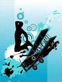 Tänzer mit Flugzeug Lizenzfreie Stockfotos