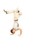 Tänzer mit grauem Hemd lizenzfreie stockfotos