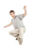 Tänzer mit grauem Hemd stockbilder