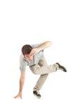 Tänzer mit grauem Hemd lizenzfreies stockfoto