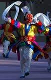 Tänzer mit roter Schablone Lizenzfreies Stockfoto