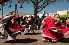 Tänzer an Russland-Tag Auckland lizenzfreie stockfotografie