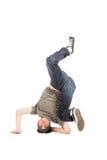 Tänzer - verschieben auf dem Fußboden Stockbild