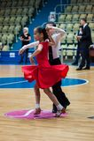 Tänzerin und Junge Lizenzfreies Stockbild
