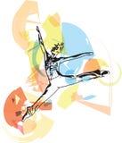 Tänzermann des modernen Balletts lizenzfreie abbildung
