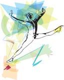 Tänzermann des modernen Balletts stock abbildung