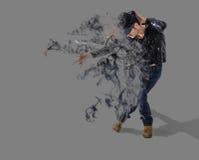 Tänzerrauchstreuung Stockfotos