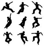 Tänzerschattenbild Lizenzfreie Stockfotografie