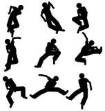 Tänzerschattenbild Stockfoto