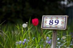 täppa för 89 nummer arkivfoton