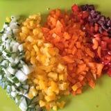 Tärnade grönsaker Royaltyfri Bild