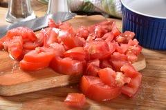 tärnade nya tomater Royaltyfri Fotografi