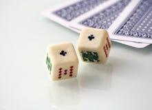 tärnar poker Royaltyfri Bild