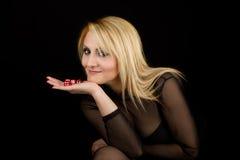 tärnar rött sexigt för lady Fotografering för Bildbyråer