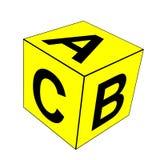 Tärning för alfabetbokstavsabc stock illustrationer