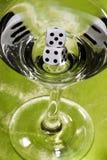 tärning martini Fotografering för Bildbyråer