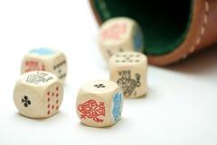 tärning mig poker Arkivbild