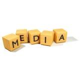 Tärning och massmedia fotografering för bildbyråer