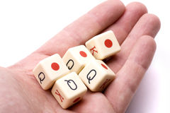 tärning som leker poker royaltyfri foto