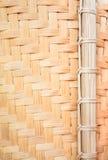 tät övre wickerwork för bambu Royaltyfri Bild