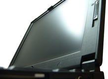 tät bärbar dator upp Arkivfoto
