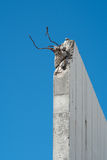 tät betong som skjutas upp väggen Royaltyfria Foton