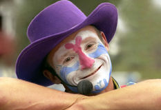 tät clown upp Arkivfoton
