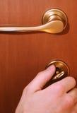 tät dörr Arkivbilder