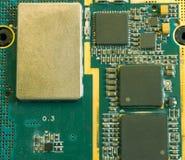 tät dator för chip upp Arkivfoto