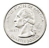 tät dollarfjärdedel upp oss Royaltyfri Bild