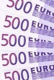 tät euro för sedel upp Arkivbilder