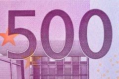 tät euro för sedel upp Arkivbild