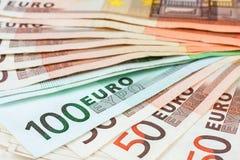 tät euro upp Arkivbilder