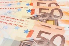 tät euro upp Royaltyfria Foton