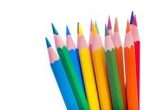 tät färg pencils upp Arkivfoto