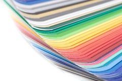 tät färghandbok upp arkivfoto