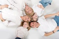 tät familj Arkivbild