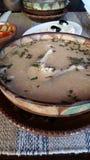 tät fisk skjuten soup upp Royaltyfri Fotografi