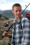 tät fiskare upp Fotografering för Bildbyråer