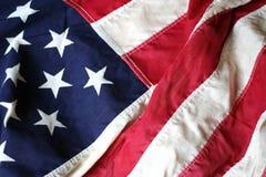 tät flagga för 3 american upp Royaltyfri Foto
