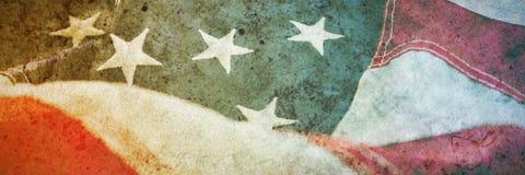 tät flagga för american upp royaltyfri illustrationer