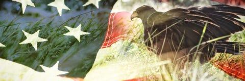 tät flagga för american upp royaltyfria bilder